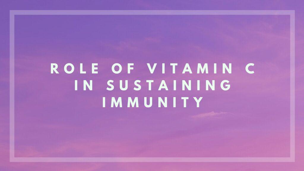 vitamin c role in immunity